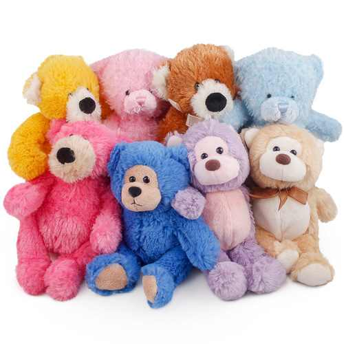 "PLUSH TEDDY BEAR ASSORTMENT 9"""