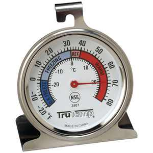 TRUTEMP Fridge/Freezer Thermometer,-20 to 80F 3507