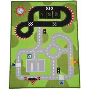 Mainstays Kids Road Tracks 1-2-3 Rug, Rectangle, 30'' x 40'', Multicolor, 1 Each