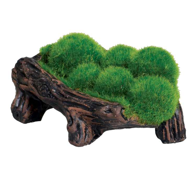 Underwater Treasures Mossy Log Cave with Airstone
