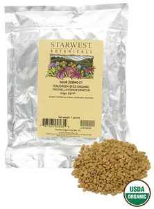 Starwest Botanicals - Bulk Fenugreek Seed Organic - 1 lb.