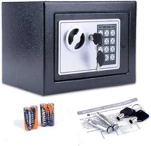 Security Safe - Digital Safe, Electronic Steel, Fireproof Lock Box with Keypad to Protect Money, Jewelry, Passports for Home, Business or Travel Black