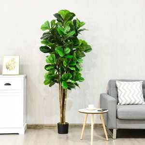 6ft Artificial Natural Fig Tree Bush Indoor/Outdoor decorative Planter