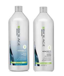 ($64 Value) Matrix Biolage Advanced KeratinDose Pro-Keratin Plus Silk Shampoo and Conditioner Duo Set, 33.8 Oz