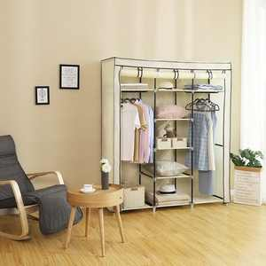 Zimtown Portable Hanging Clothes Sundries Rack Closet Storage Organizer with Shelves