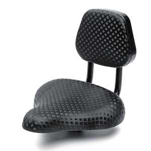 Black Cruiser Tricycle Bike Bicycle Backrest Seat Pad With Back Rest Saddle Comfort Cushion