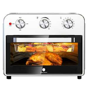 Air Fryer Toaster Oven 22QT Convection Airfryer Countertop Oven, Roast, Bake, Broil, Reheat, Fry Oil-Free, Cooking 5 Accessories Included, Stainless Steel,1800W