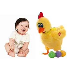 Funny Electric Musical Dancing Chicken Laying Egg Doll Raw Crazy Singing Dancing Electric Pet Plush Toy