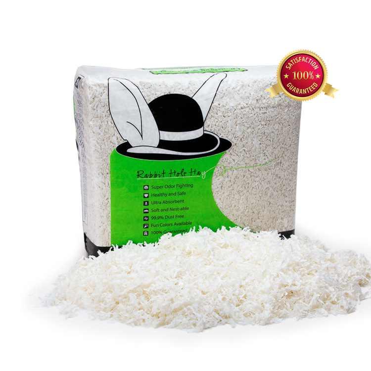 Rabbit Hole Hay, Ultra Premium Food Grade Bedding; 2.5cu ft White