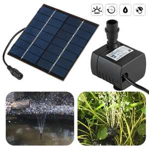 TSV 150L/H Solar Fountain Water Pump, 1.4W Submersible Water Pump Kit Solar Panel Kits with 6/3 Nozzles for Outdoor Pool, Small Pond, Bird Bath, Garden Fish Tank, Water Circulation for Oxygen