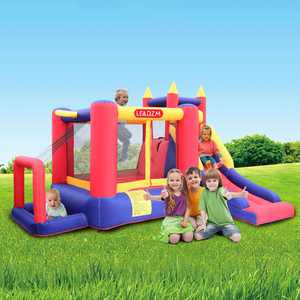 Zimtown Inflatable Bounce House Castle Kids Jumper Slide Bouncer with UL Certified Blower
