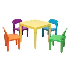 UBesGoo Kids Table and Chairs Set 5pcs Toddler Activity Chair Best