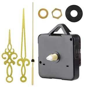TSV Wall Quartz Clock Movement Gold Hands, Silence Quartz Clock Movement Mechanism Long Shaft Replacement Clock Kits Wall Clock Movements Mechanism Parts for Repairing Replacing or DIY Clock