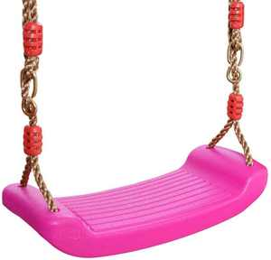 Ropes Swing Outdoor Tree Swing for Kids Indoor Outdoor Play Set Anti-slip Plastic Swing Seat, Adjustable Hemp Rope