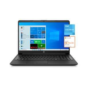 """HP 15.6"""" Laptop, 128 GB, Black, 15-dw1001wm"""