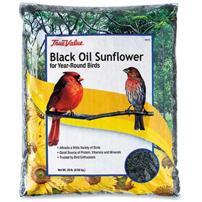 JRK Seed & Turf Supply 106363 True Value 20 lbs Sunflower Bird Seed