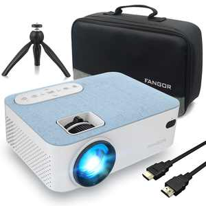 """FANGOR Bluetooth Projector Supprot 1080P,With 200"""" Projection Size,Ideal For Home Theater"""