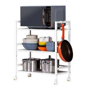 Zimtown 3-Tier Shelf Wire Mesh Rolling Cart Serving Utility Organization Kitchen Cart