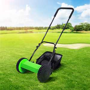 "12"" Compact Hand Push Lawn Mower Reel Mower No Power Gardening Supplies grass cutter machine grass trimmer"
