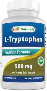 Best Naturals L-Tryptophan 500 mg 120 Capsules