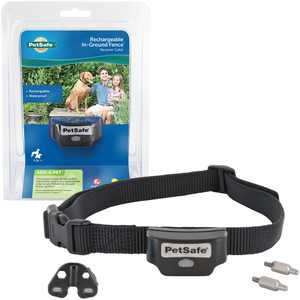 PetSafe Rechargeable In-Ground Fence Receiver Collar for Cats and Dogs, Waterproof with Tone and Static Correction