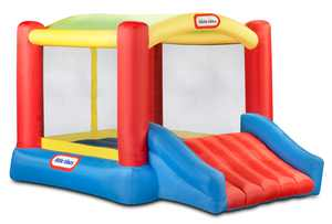 Little Tikes Shady Jump 'n Slide Inflatable Bounce Room Play Kids for Ages 3+