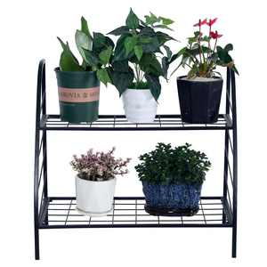 Zimtown 2-Tier Indoor Outdoor Metal Multipurpose Plant Stand