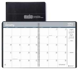Blue Sky 2021 8.5 x 11 2-Year Monthly Planner, Black 26200221
