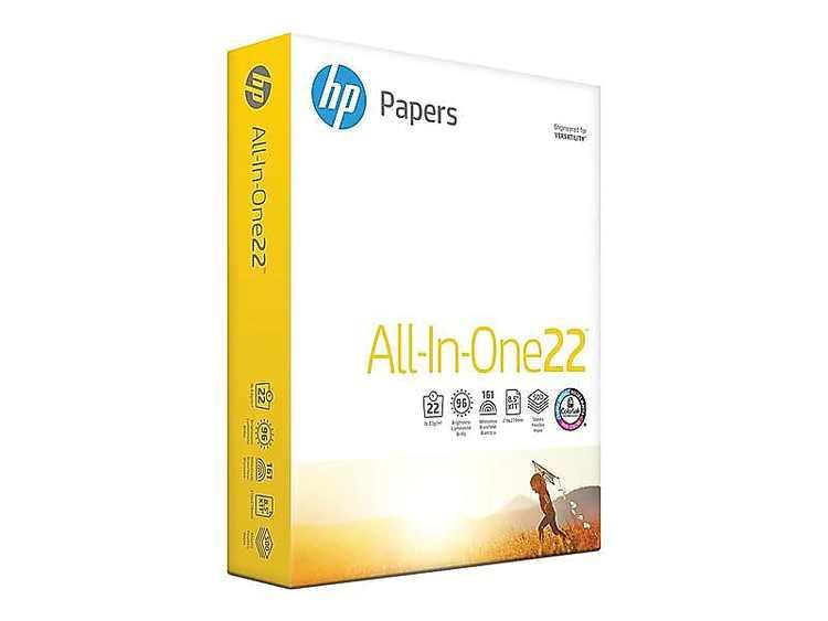 "HP All-In-One22 8.5"" x 11"" Multipurpose Paper 22 lbs 96 Brightness 397603"