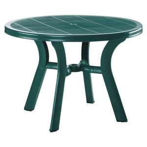 "Kingfisher Lane 42"" Round Resin Patio Dining Table in Green"