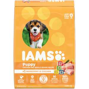 IAMS Smart Puppy Dry Dog Food with Real Chicken, 15 lb. Bag