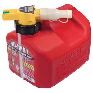 No Spill Gas Can, 1.25 gallons
