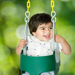 Ktaxon Heavy-Duty High Back Full Bucket Toddler Swing Seat with Coated Swing Chains Fully Assembled