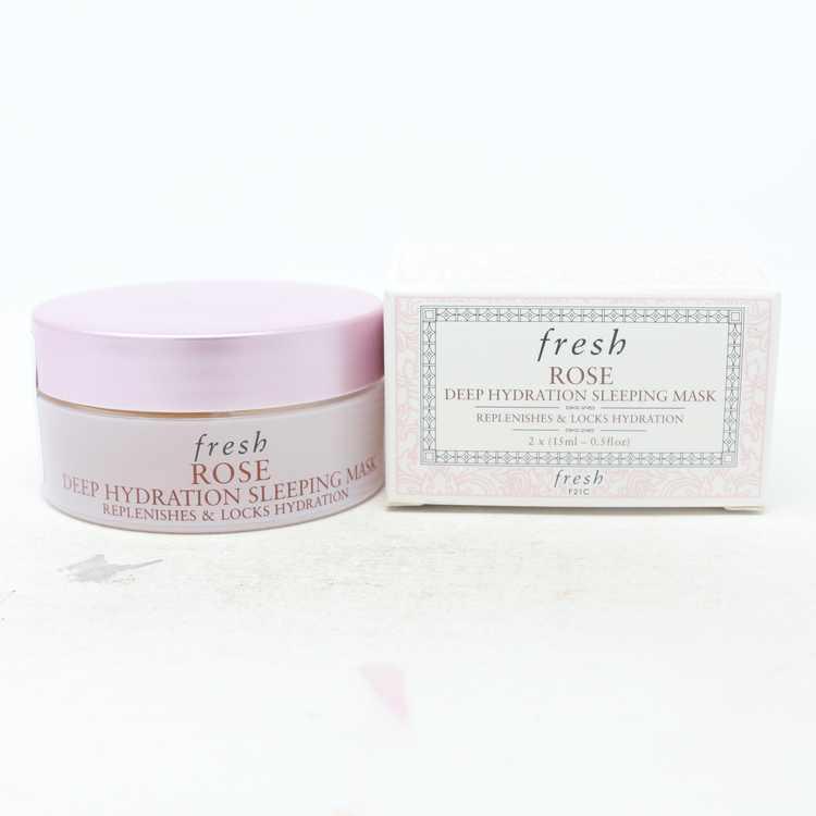 Fresh Rose Deep Hydration Sleeping Mask  2X0.5oz/ New With Box