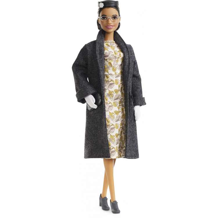 Barbie Inspiring Women Series Rosa Parks Collectible Barbie Doll, Wearing Fashion and Accessories, with Doll Stand and Certificate of Authenticity