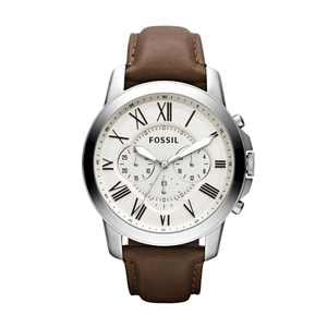 Fossil Men's Grant Leather Chronograph Watch (Style: FS4735IE)