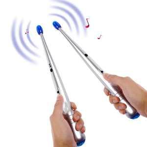 WALFRONT 1 Pair Electronic Drum Sticks Air Drumstick Children Lightweight Rhythm Sticks Kids Musical Party Gimmic Toy Personal Gift