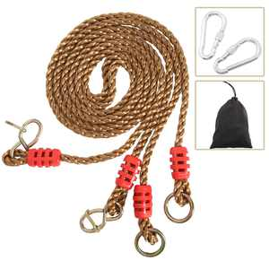 YaeGarden Tree Swing Ropes Hammock Chair Straps Hanging Kit with 2 Carabiners for Replacement, Adjustment or Extension - 6ft - Hold up to 600lbs, Perfect for Children Swing, Outdoor Hammock Hanging