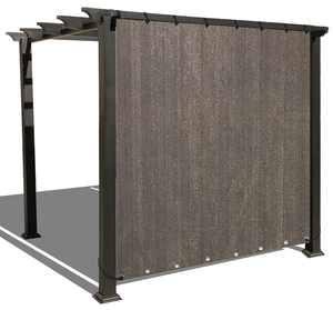 Alion Home Mocha Brown Sun Shade Privacy Panel with Grommets on 2 Sides for Patio, Awning, Window, Pergola or Gazebo 12' x 6'