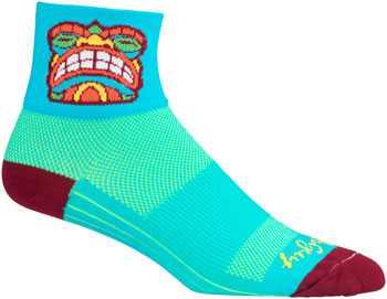 "Socks - Sockguy - Classic 3"" - Friki Tiki L/XL Cycling/Running"