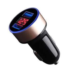 Cusimax Car Charger 5V 3.1A Quick Charge Dual USB Port LED Display Cigarette Lighter Phone Adapter