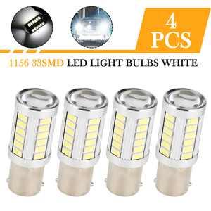 4PCS 1156 LED Bulb White, TSV Super Bright 1156 BA15S 1141 Car LED Light Bulbs Replacement for 12V RV Car Camper Trailer Interior Turn Signal Backup Reverse Lights 6000K