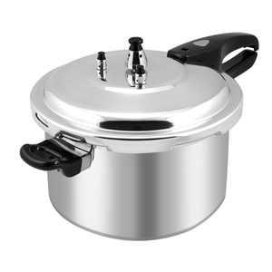 Barton 8-Quart Aluminum Pressure Cooker Stovetop Fast Cooker Pot Pressure Regulator Fast Cooking, Silver