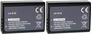 Replacement Battery For Canon LP-E10 (2 Pack)