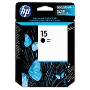 HP 15 Ink Cartridge, Black (C6615DN)