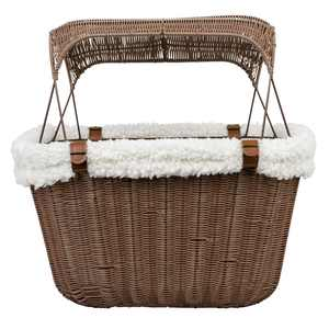 PetSafe Happy Ride Wicker Bicycle Basket for Dogs and Cats up to 13 lb, Weather Resistant