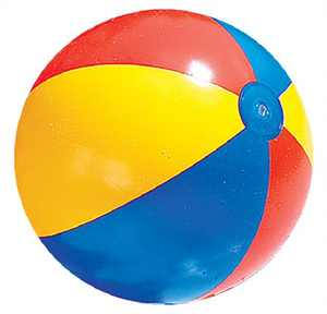 "Swimline 24"" Inflatable Classic Swimming Pool Beach Ball Toy - Vibrantly Colored"