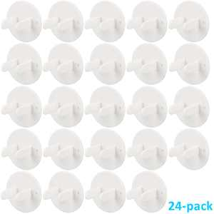 24-pack Outlet Plug Covers White Child Baby Proof Electrical Protector Safety Power Socket Plastic Caps