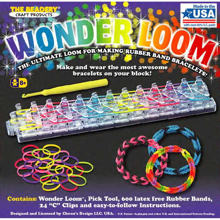 The Beadery Wonder Loom Kit, Gift for Kids, Includes 600 Rubber Bands
