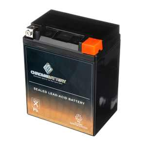 Chrome Battery YB14L-A2 (14L-A2 12 Volt,14 Ah, 190 CCA) High Performance - Maintenance Free - Sealed AGM Motorcycle Battery